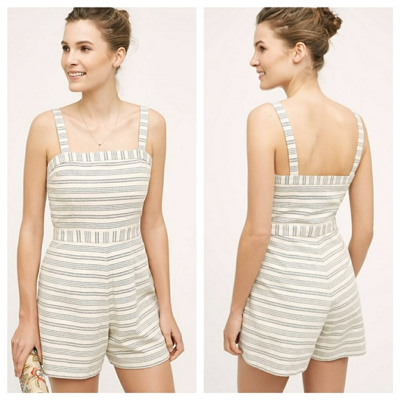 af6bc67706f0 Anthropologie Pants | Lexington Romper Striped | Poshmark